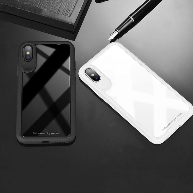 zero point series frame and back glass for iphone x interior