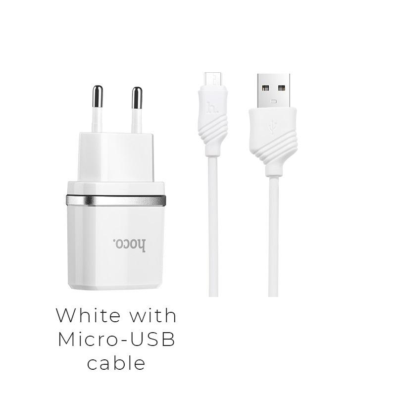 c12 micro usb white