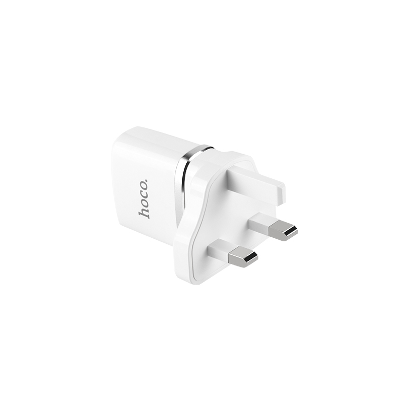 Wall Charger C12b Smart Uk Plug Dual Usb Charging Adapter