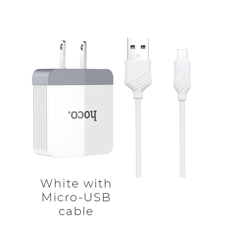 c13a micro usb white