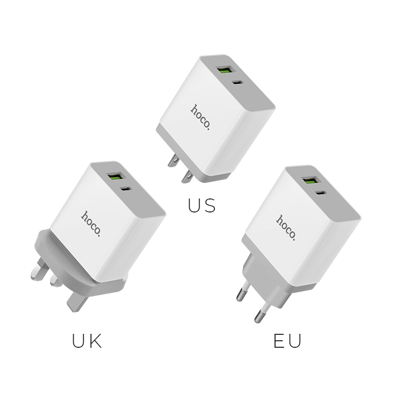 c24a qc3.0 bele two ports charger plugs