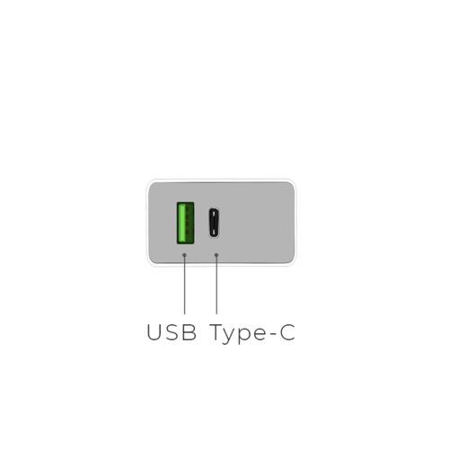 c24a qc3.0 bele two ports charger ports