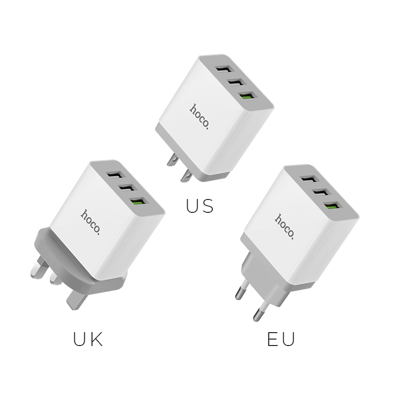 c24b qc3.0 bele three ports charger plugs