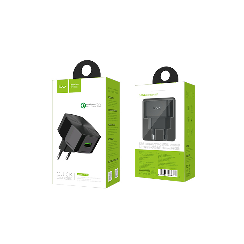 c26 mighty power qc3.0 single port charger package