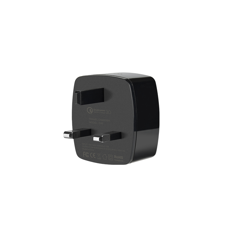 c26 mighty power qc3.0 single port charger side