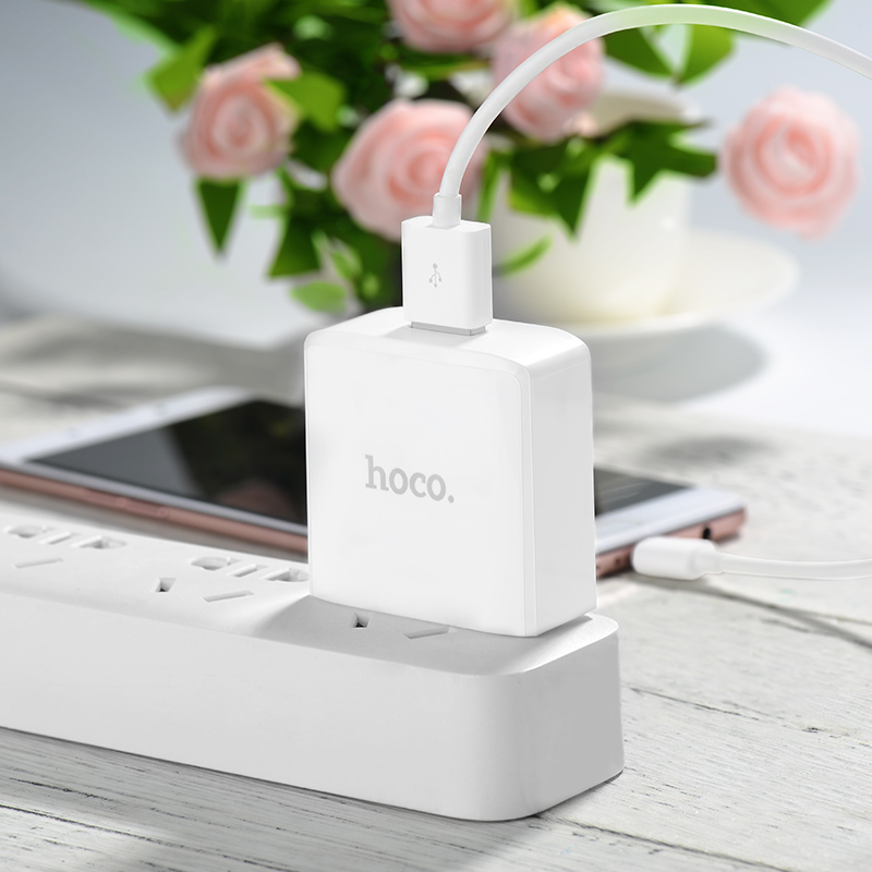 c29 prospering qc3.0 single port charger flower