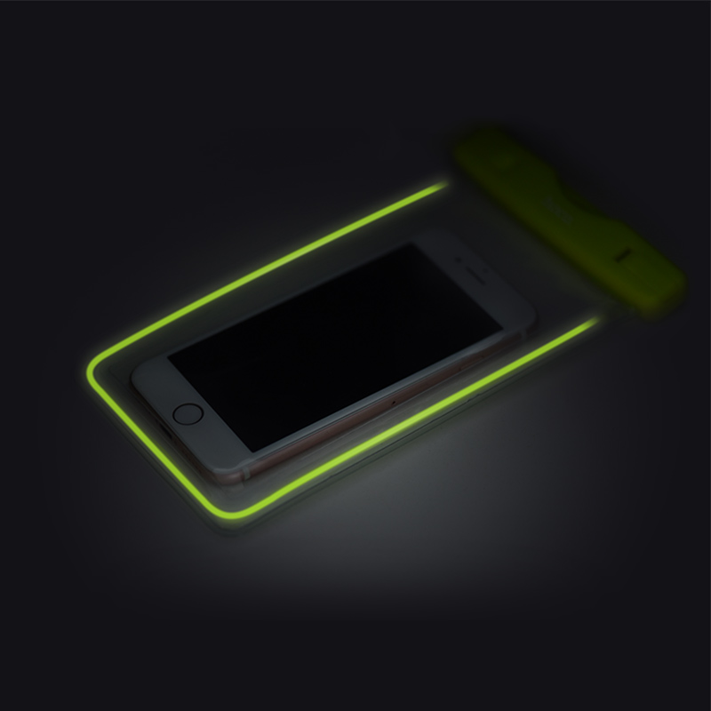 clear fluorescent waterproof bag dark