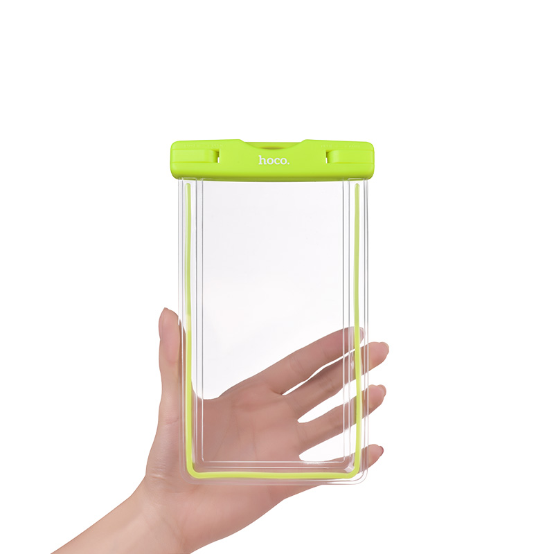 clear fluorescent waterproof bag hand