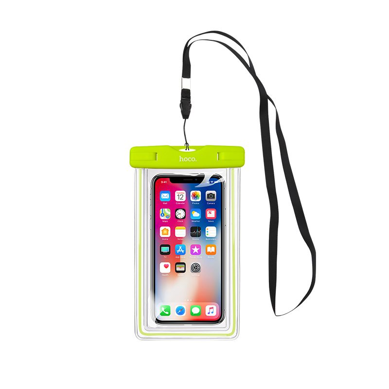 clear fluorescent waterproof bag lanyard