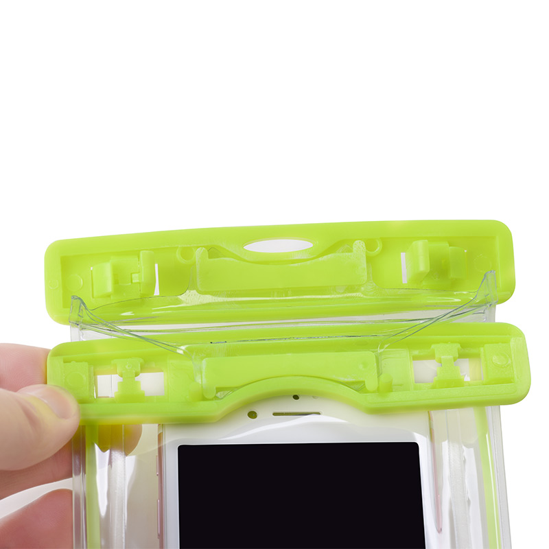 clear fluorescent waterproof bag opened