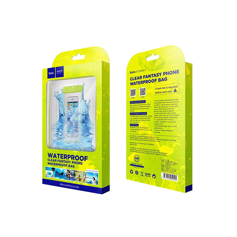 clear fluorescent waterproof bag package