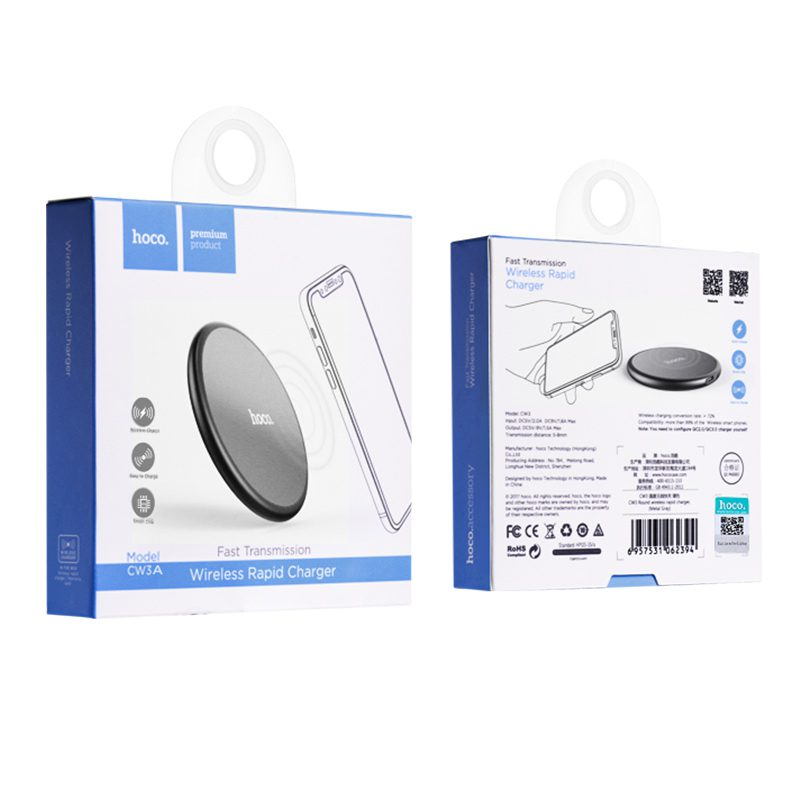 cw3a round wireless charger package
