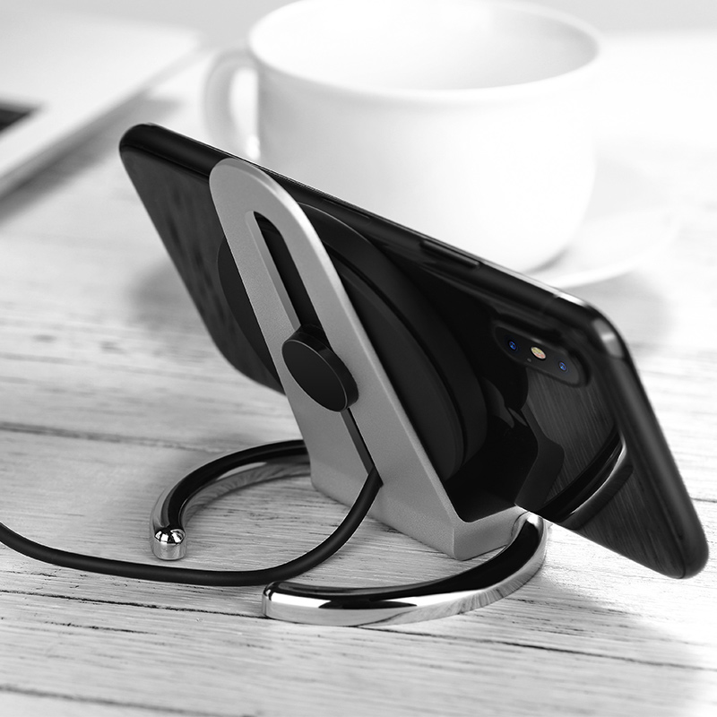 cw5a unhindered desktop wireless charger stand interior