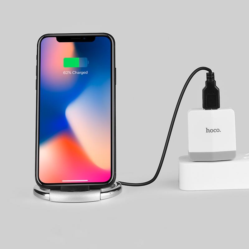 cw5a unhindered desktop wireless charger stand iphone