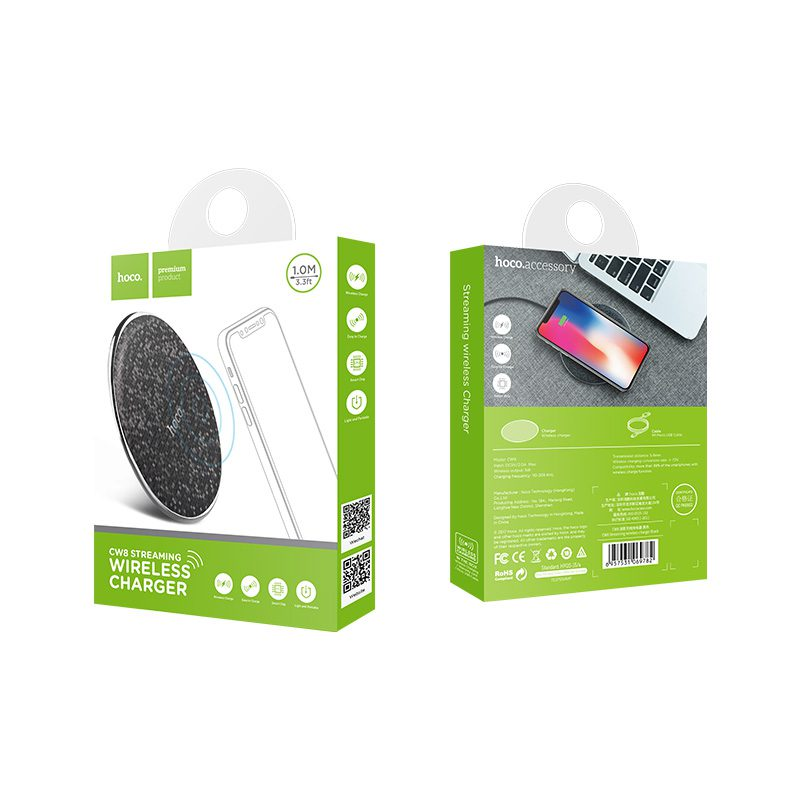 cw8 streaming wireless charger package