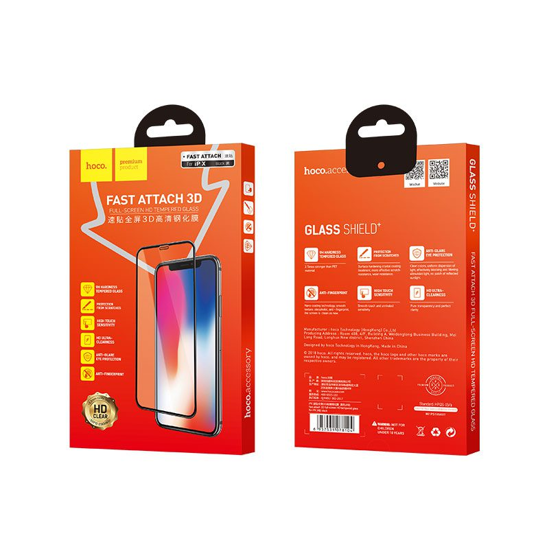 iphone x a8 tempered glass package