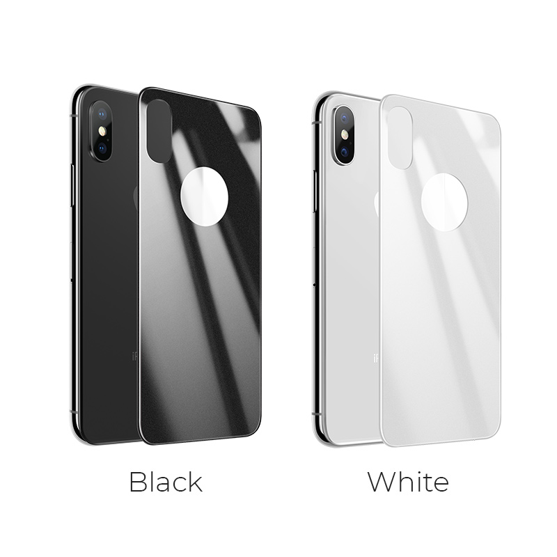 iphone x anti fingerprint back glass color