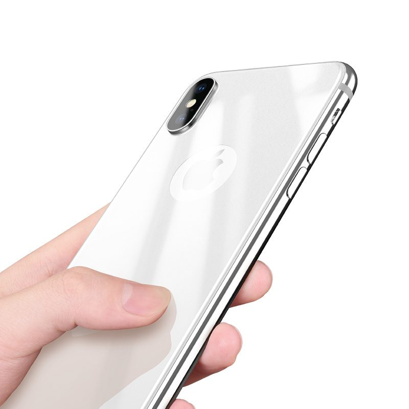 iphone x anti fingerprint back glass hand