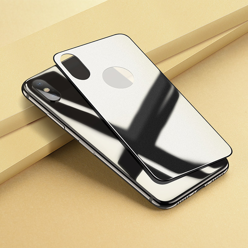 iphone x anti fingerprint back glass mirror