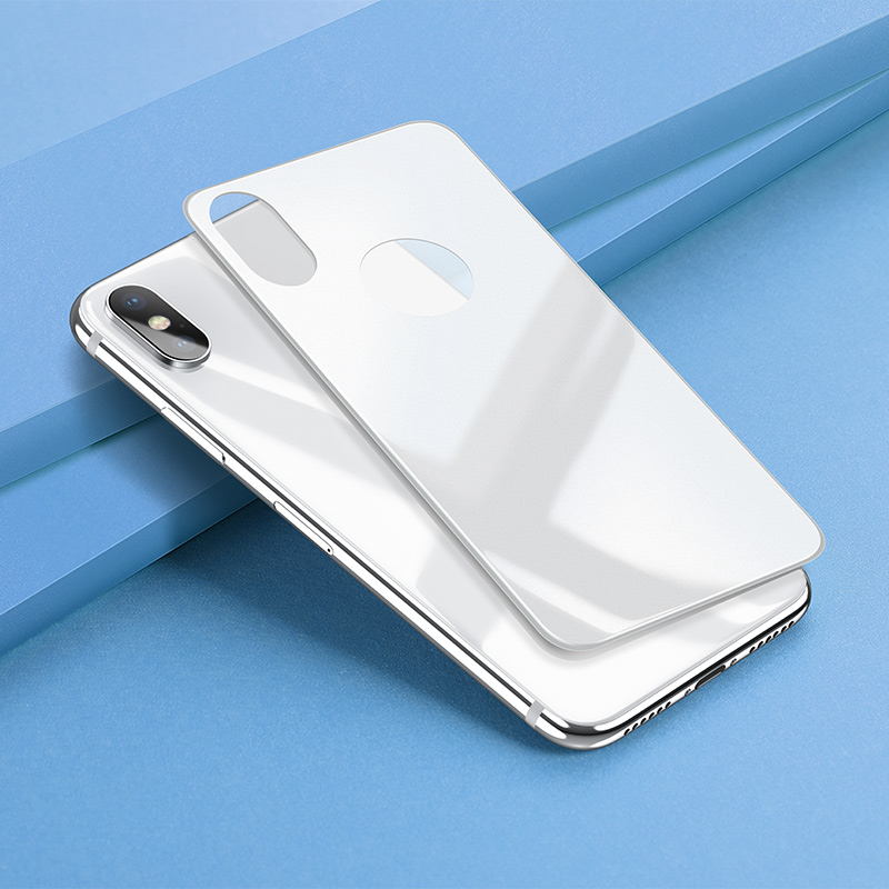 iphone x anti fingerprint back glass phone