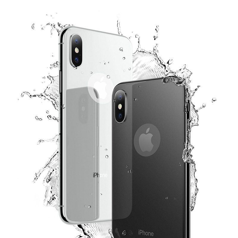 iphone x anti fingerprint back glass splash