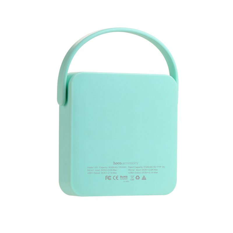 j20 brilliant sunshine power bank back