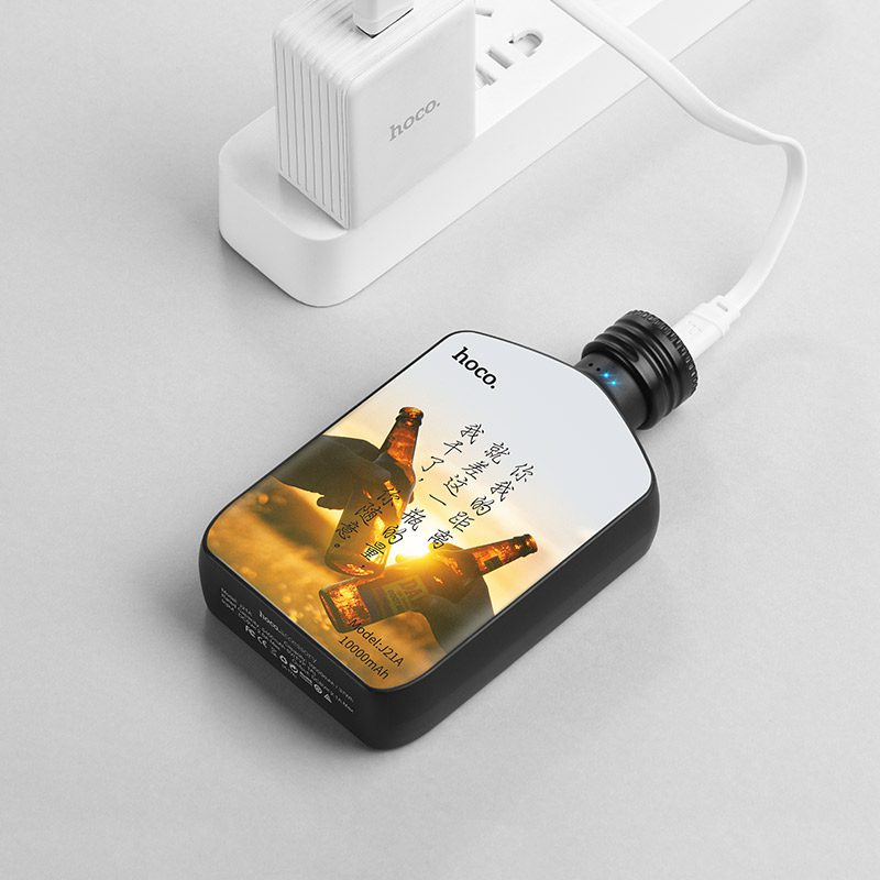 j21a heart words power bank charging