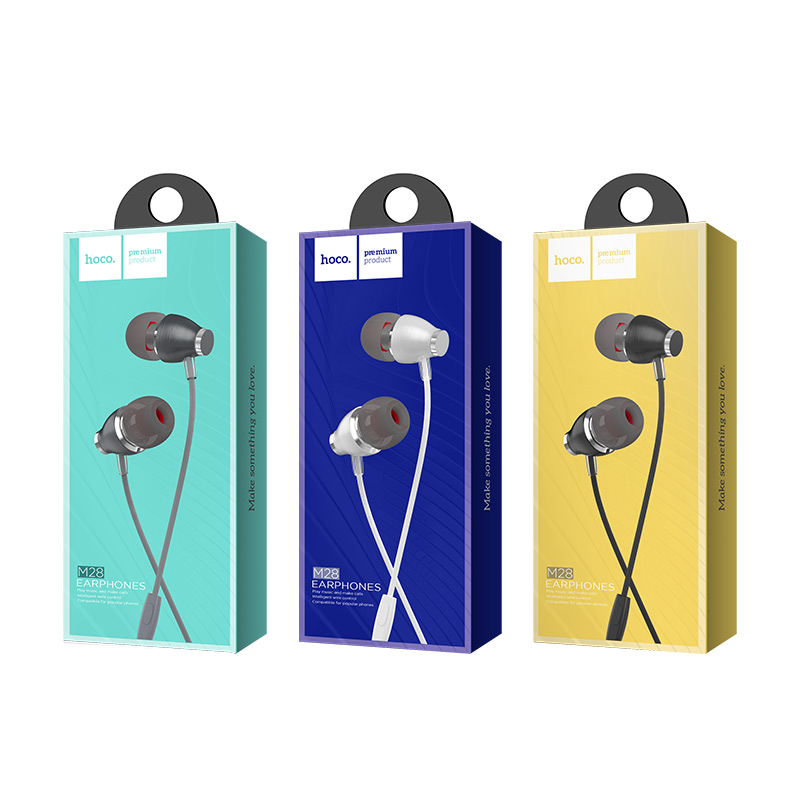 m28 ariose universal earphones with mic packages