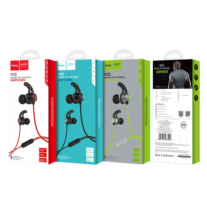 m35 universal earphones with microphone package