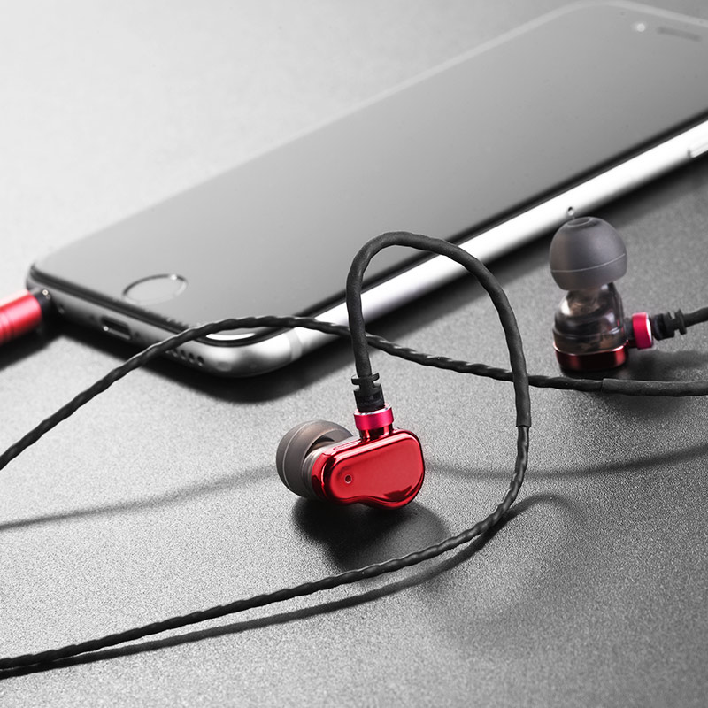 m36 double coil earphones with microphone phone