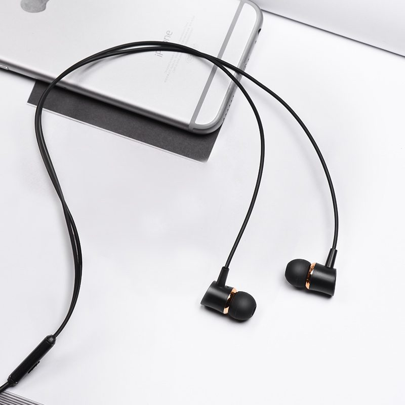 m37 universal earphones with microphone interior
