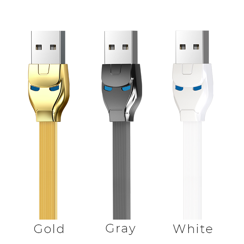 u14 steel man 2in1 charging cable colors