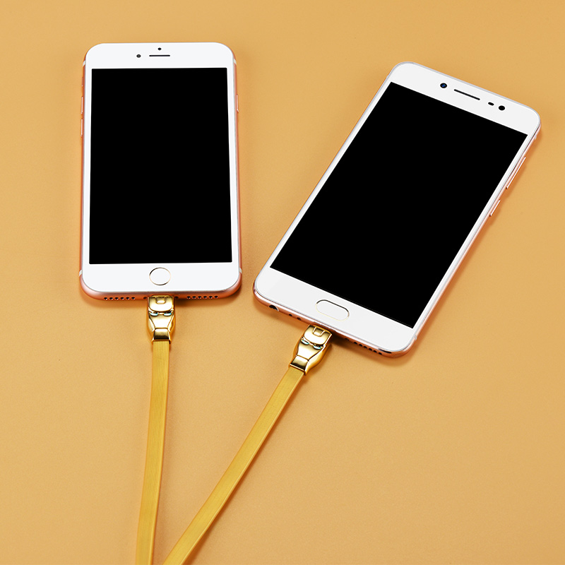 u14 steel man 2in1 charging cable interior