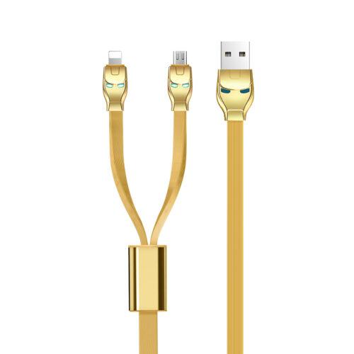 u14 steel man 2in1 charging cable plugs