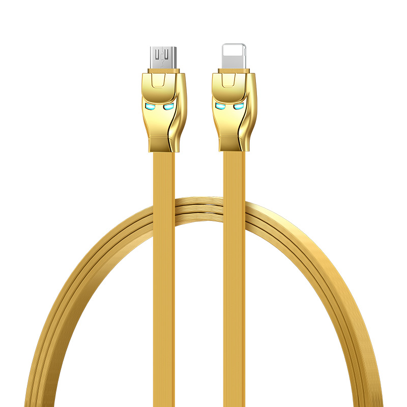 u14 steel man 2in1 charging cable rounded