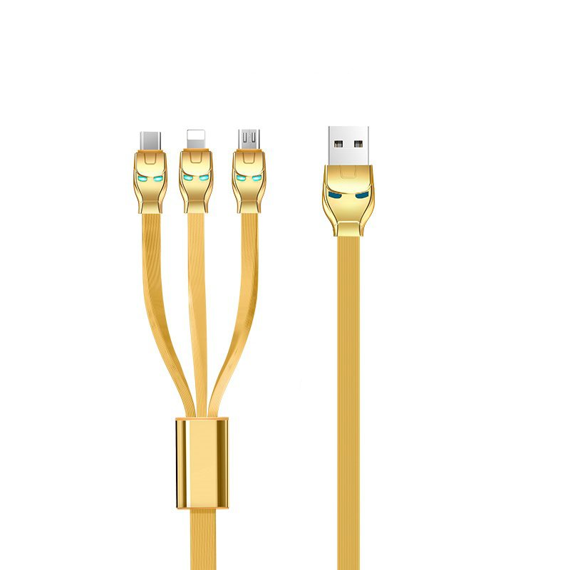 u14 steel man 3in1 charging cable plugs