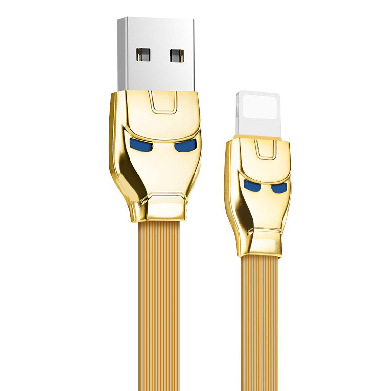 u14 steel man lightning charging cable