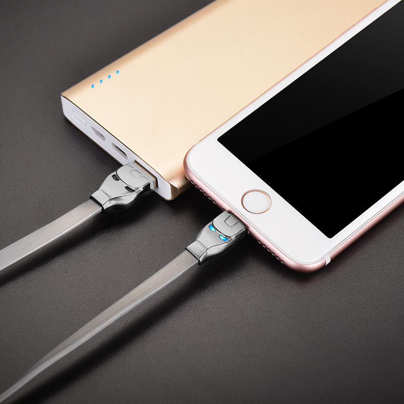 u14 steel man lightning charging cable charge