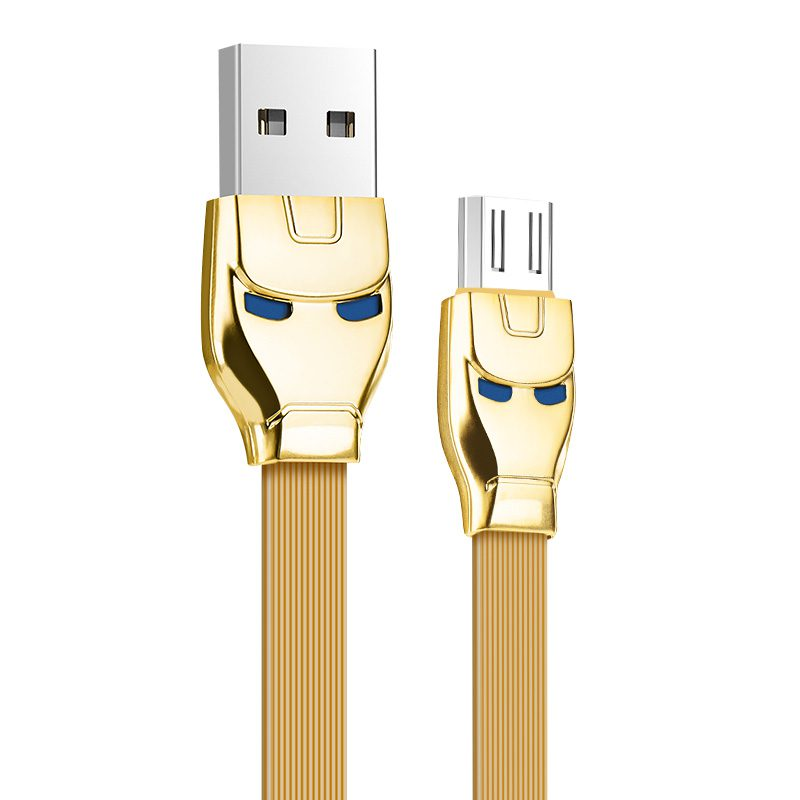 u14 steel man micro usb charging cable