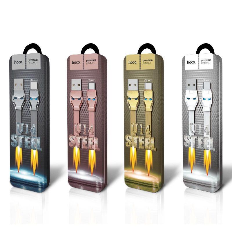u14 steel man type c charging cable package