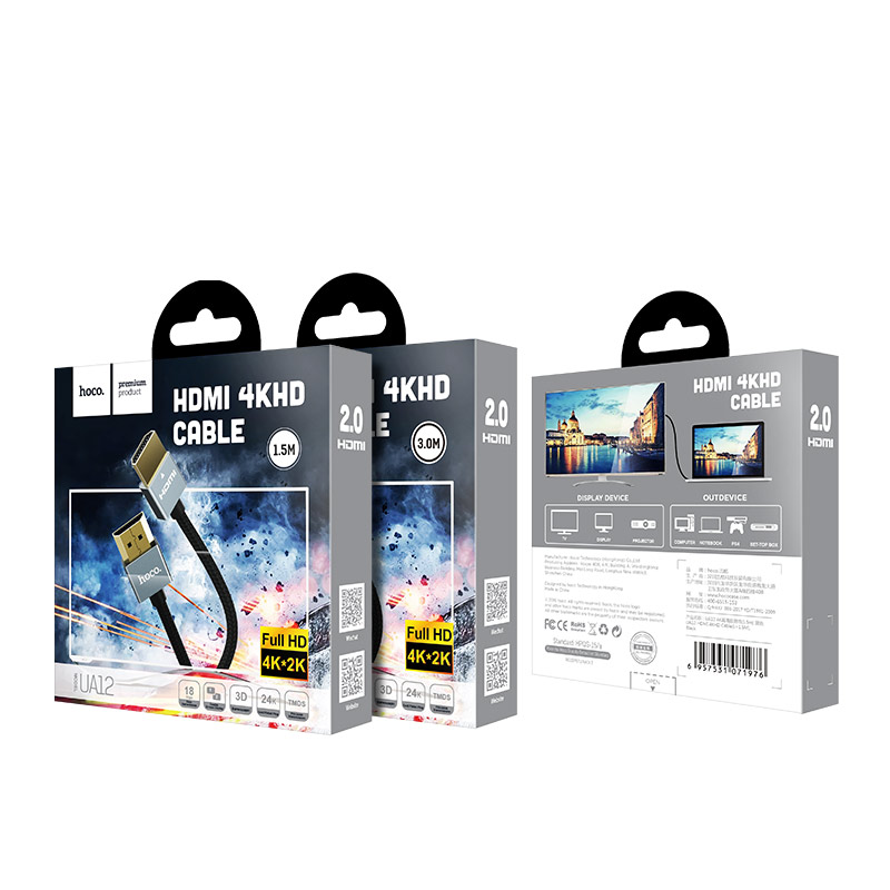ua12 hdmi to hdmi 4k cable package