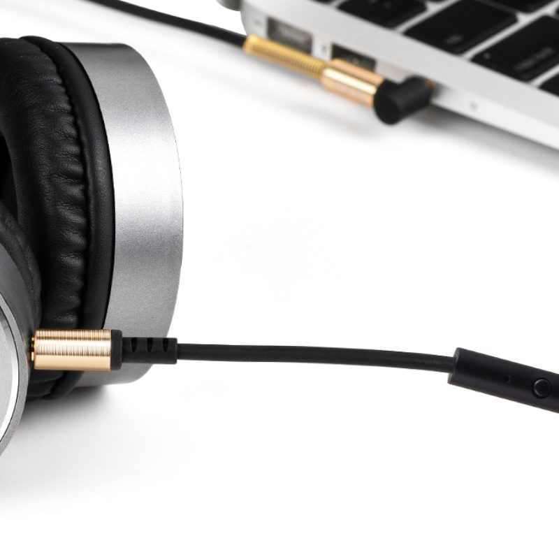 upa02 aux spring audio cable with mic headphone