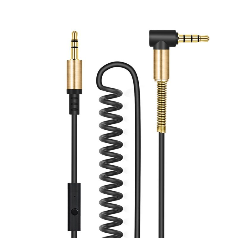 upa02 aux spring audio cable with mic overview