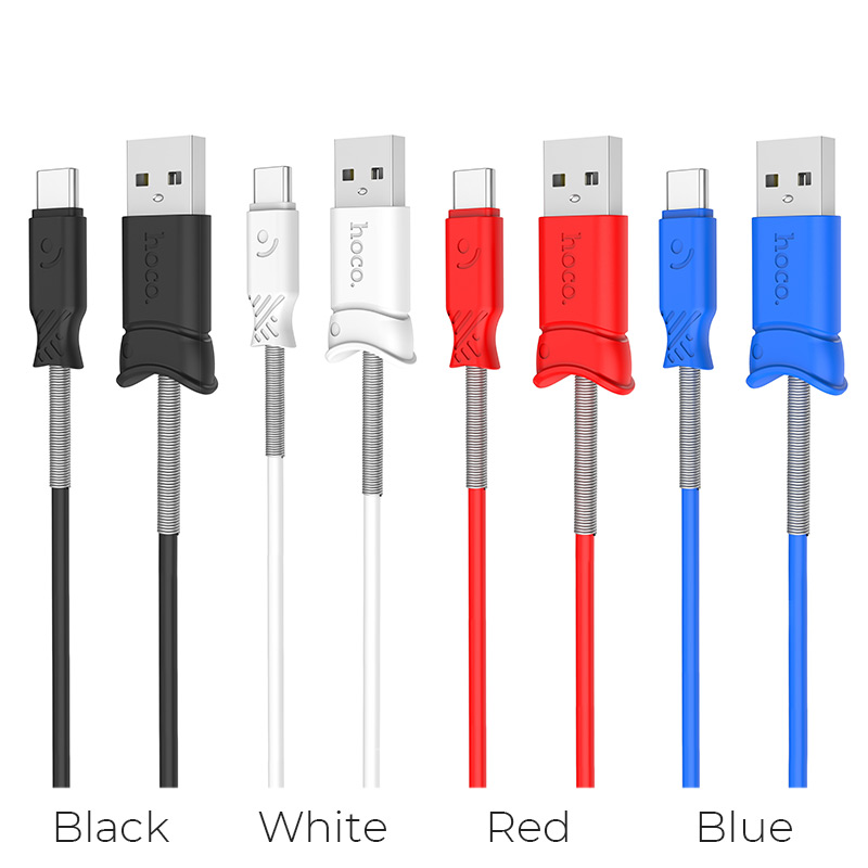 x24 pisces type c charging data cable colors