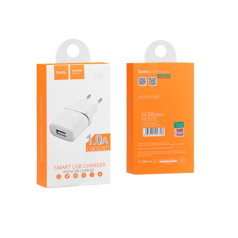 c11 smart single usb charger package