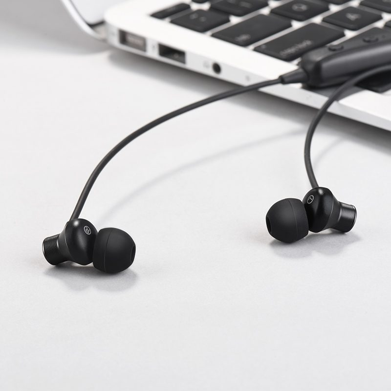 es13 exquisite sports bluetooth earphones black interior