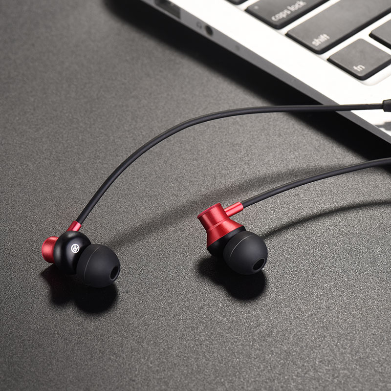 es13 exquisite sports bluetooth earphones red interior