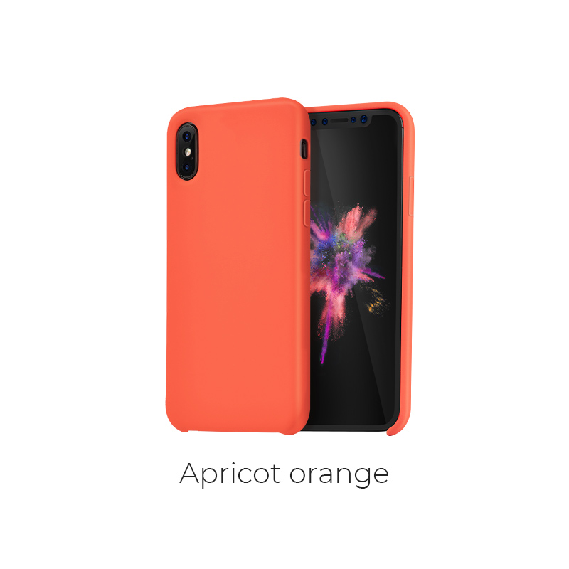 ip x pure case apricot orange