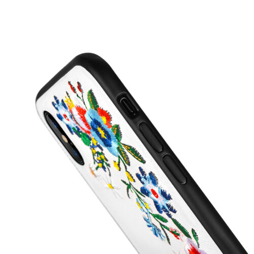 iphone x summery flowers series protective case buttons