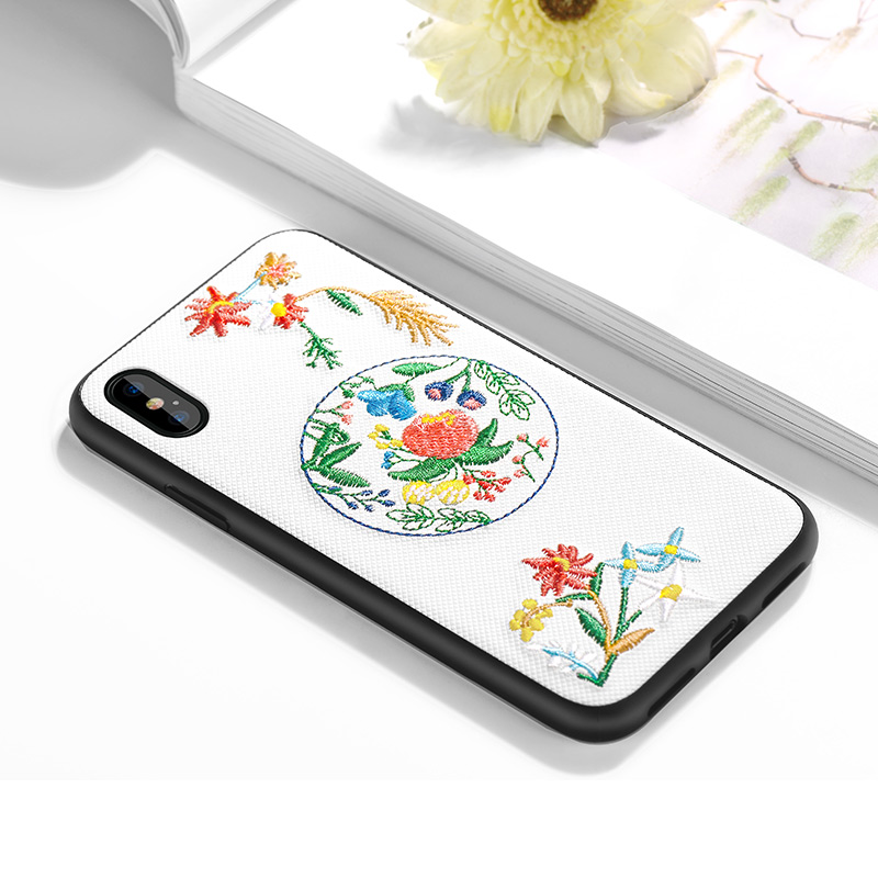 iphone x summery flowers series protective case interior